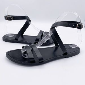 Urban Outfitters Cross Ankle Strappy Sandals